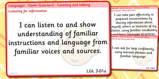 CfE Languages Experiences and Outcomes for Display Second - cfe