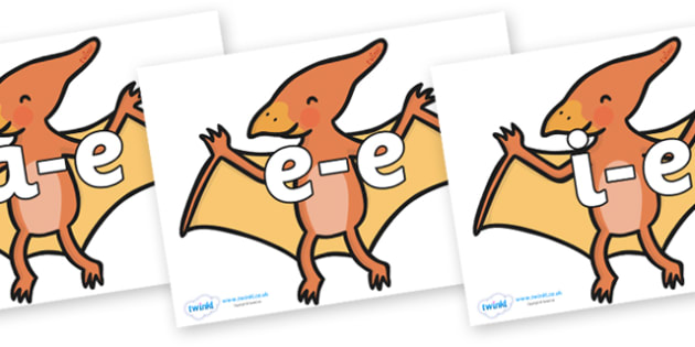Modifying E Letters on Pterodactyl-Dinosaurs - Modifying E, letters, modify, Phase 5, Phase five, alternative spellings for phonemes, DfES letters and Sounds