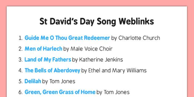 Elderly Care St David's Day Song Weblinks - Elderly, Reminiscence, Care Homes, St. David's Day