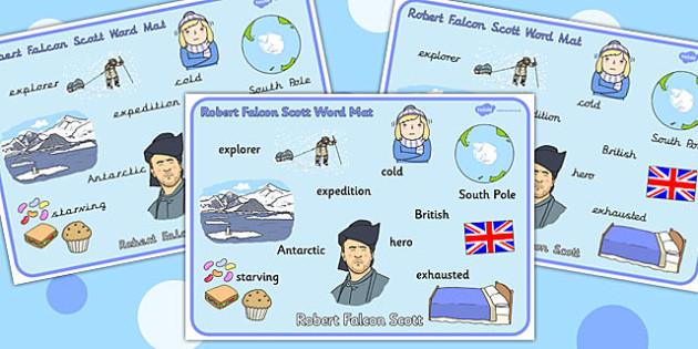 Robert Falcon Scott Word Mat - Robert, Falcon, Scott, Word, Mat