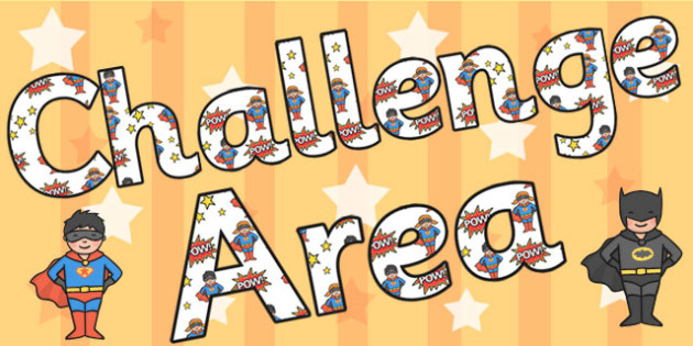 Challenge Area Display Lettering - challenge area, letters, areas