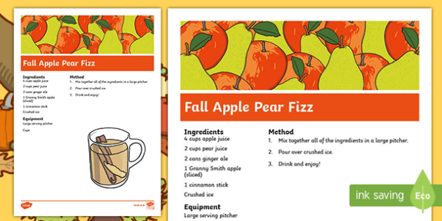 Fall Apple Pear Fizz Recipe