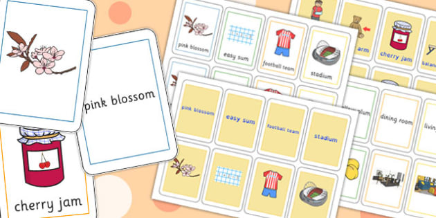 Three Syllable Final M Sound Playing Cards - final m, sound, play