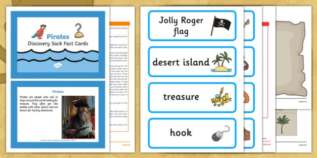 Pirates Discovery Sack - Early Years, KS1, sea, ships, captain, Blackbeard.