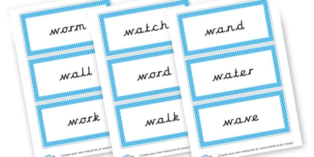 Phase 3 'w' Words - Phase 3 Visual Aids Primary Resources, Phase One, Letters, sounds