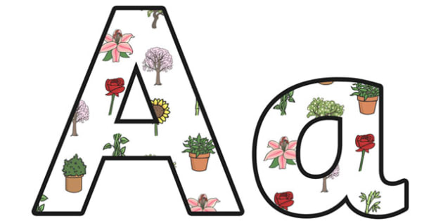Plants Small Lowercase Display Lettering - plants, plants lettering, plants letters, plants display letters, plants display, living things, green plants