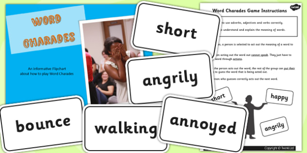 How to Play Word Charades Flipchart Activity Pack - word games