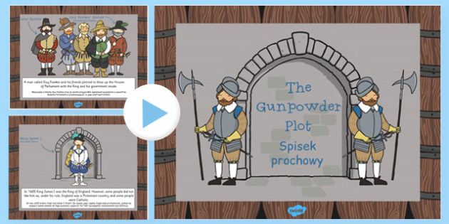 The Gunpowder Plot Information PowerPoint KS1 Polish Translation - polish, gunpowder plot