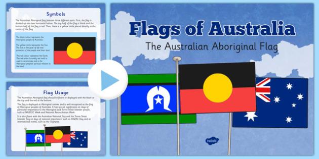 Flags of Australia The Australian Aboriginal Flag Information PowerPoint - Australian Aboriginal flag, Aboriginal flag, history, symbols, uses, powerpoint, information