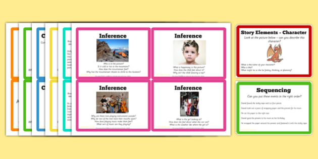 Guided Reading Skills Task Cards - guided, reading, skills, cards