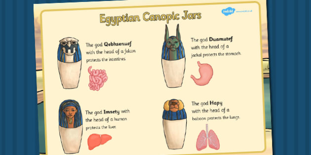 Canopic Jars Information Print Out - canopic jars, information