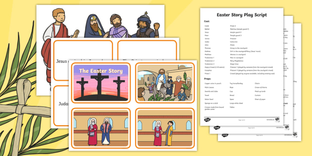Easter Story Activity Pack - easter story, activity, pack, easter
