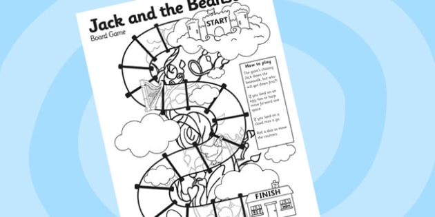 Jack and the Beanstalk Boardgame - jack and the beanstalk, boardgame, games, activities, themed boardgames, board games, classroom game, classroom activity