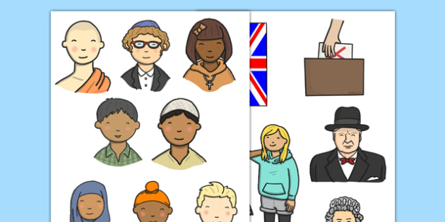 British Values Display Cut Outs - display, cut out, british