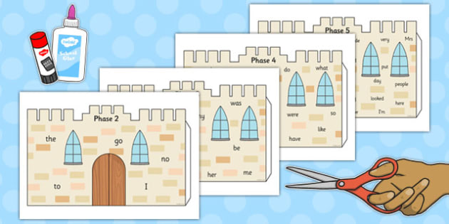 Tricky Words 3D Castle Visual Aid - tricky words, 3d, castle, visual aid