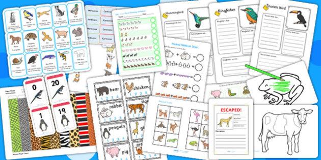 Animals Activity Pack - animal, activities, games, class games