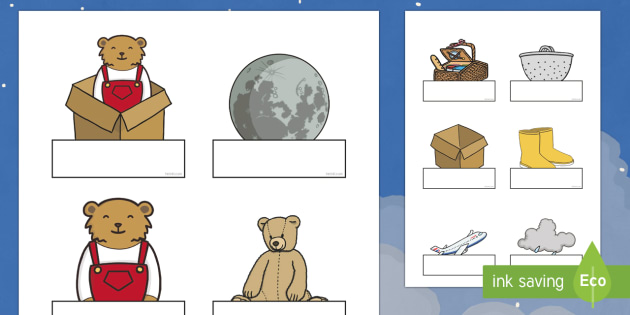 Self-Registration Labels to Support Teaching on Whatever Next! - Whatever Next!, Jill Murphy,  resources, space, baby bear, Large family, rocket, moon, owl, story, story book, story book resources, story sequencing, story resources, self registration