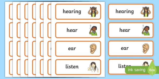 Hearing Word Cards
