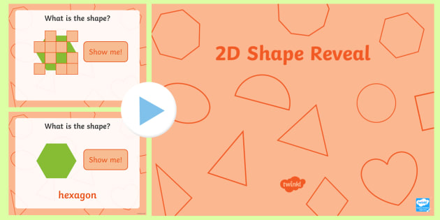 2D Shape Reveal PowerPoint - Shape, 2D shape, shape reveal, shape and space