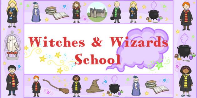 Wizard School Display Borders - border, displays, wizards, poster