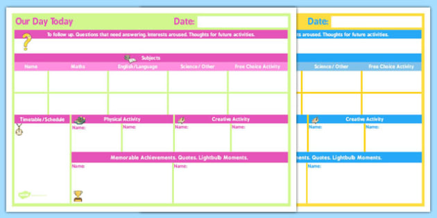 Daily 2 Child Planner - child, planner, daily, 2 child, plan