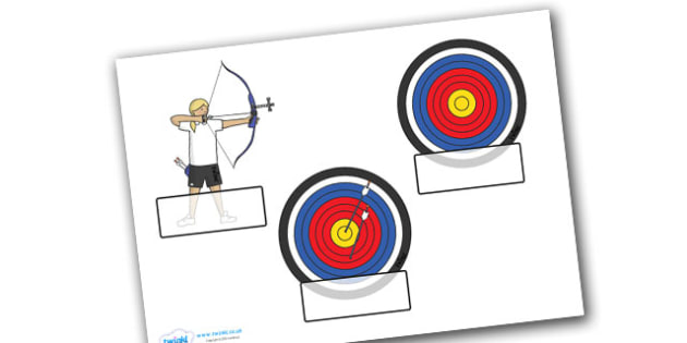 The Olympics Archery Self Registration - Olympics, Olympic Games, sports, Olympic, London, 2012, Self registration, register, editable, labels, registration, child name label, printable labels, Olympic torch, flag, countries, medal, Olympic Rings, ma