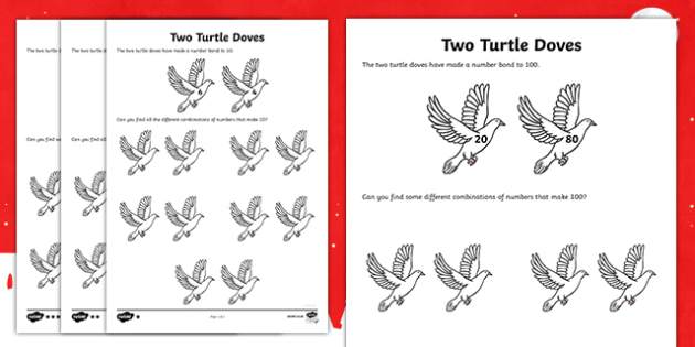 Two Turtle Doves Activity Sheet