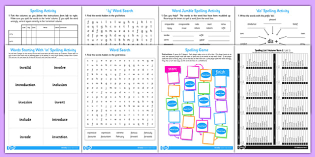 Year 3 Spelling Lists and Resources Pack - spelling, list, year 3