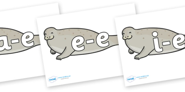 Modifying E Letters on Seals - Modifying E, letters, modify, Phase 5, Phase five, alternative spellings for phonemes, DfES letters and Sounds