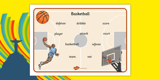 Rio 2016 Basketball Word Mat - rio 2016, 2016 olympics, rio olympics, basketball, word mat