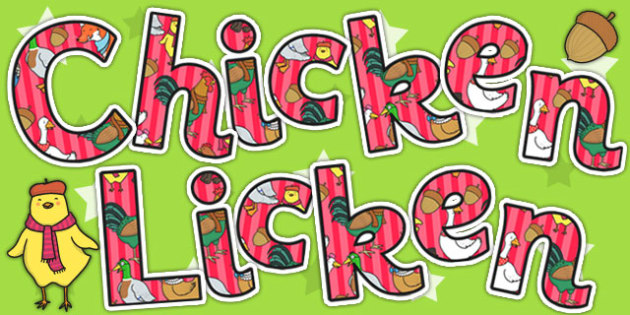 Chicken Licken Title of the Book Display Lettering - stories