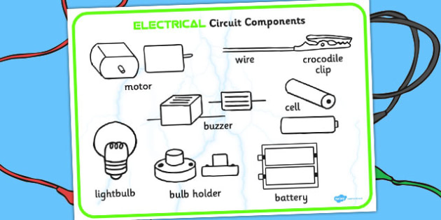 year  circuit components word mat  science, electricity, ks, wiring diagram