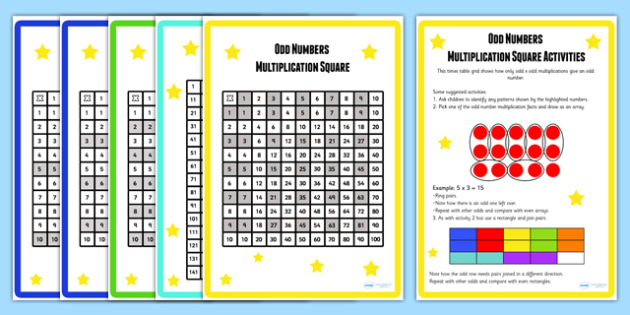 Multiplication Squares and Activities Pack - activities pack