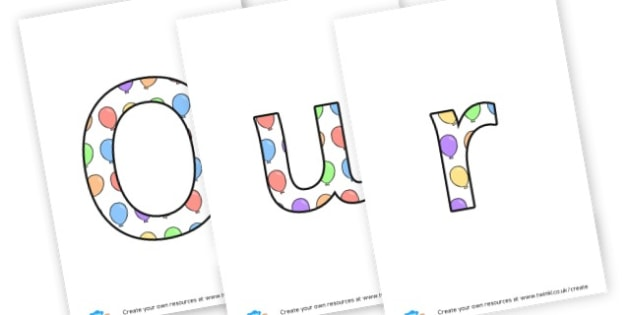 our bdays - display lettering - Birthdays, Display,  Primary Resources, birthday, party, happy, c