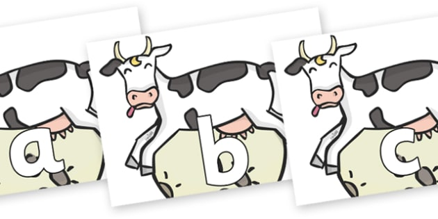 Phoneme Set on Cow and Moon - Phoneme set, phonemes, phoneme, Letters and Sounds, DfES, display, Phase 1, Phase 2, Phase 3, Phase 5, Foundation, Literacy