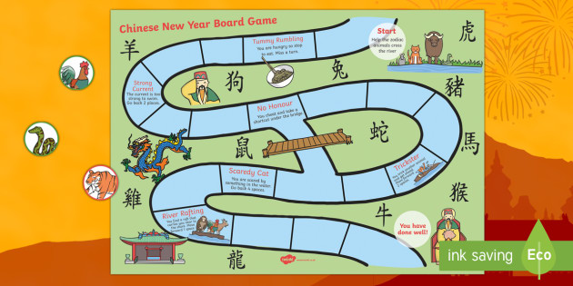Chinese New Year Animal Race Board Game - chinese new year, game
