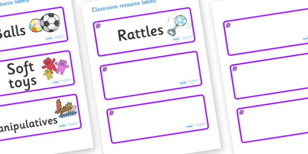 Amethyst Themed Editable Additional Resource Labels - Themed Label template, Resource Label, Name Labels, Editable Labels, Drawer Labels, KS1 Labels, Foundation Labels, Foundation Stage Labels, Teaching Labels, Resource Labels, Tray Labels, Printable