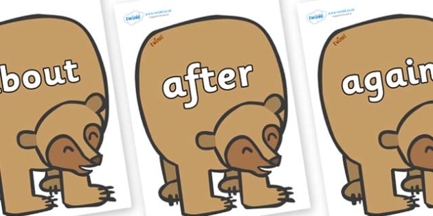 KS1 Keywords on Brown Bear to Support Teaching on Brown Bear, Brown Bear - KS1, CLL, Communication language and literacy, Display, Key words, high frequency words, foundation stage literacy, DfES Letters and Sounds, Letters and Sounds, spelling