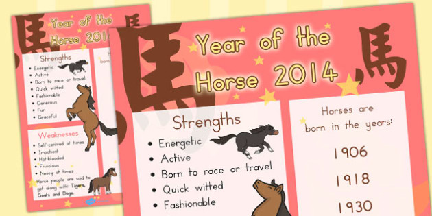 Chinese New Year of the Horse Display Poster - australia, display