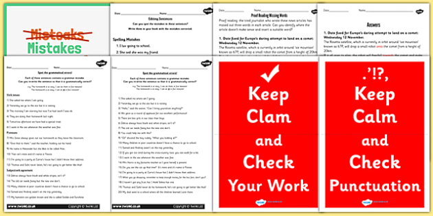 Proof Reading Resource Pack - proof-reading, resources, pack