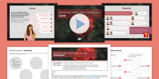 Romeo and Juliet Lesson Pack 25: Love
