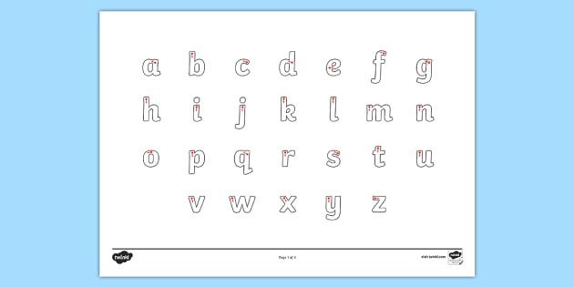Letter Formation Alphabet Handwriting Sheet Lowercase - alphabet