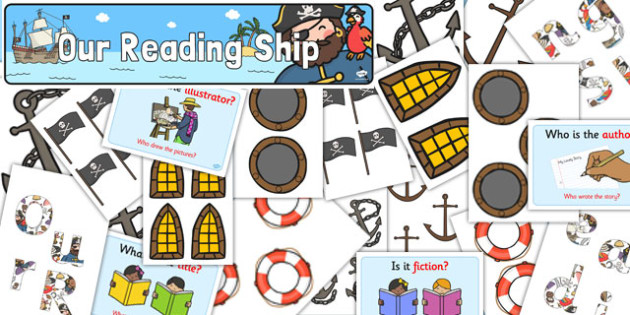 Our Reading Pirate Ship Display Pack - our reading, pirate ship, display