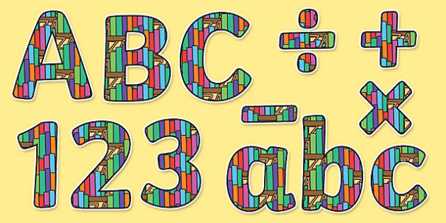 Book Themed Display Letters and Numbers Pack - English Lettering, Literacy Lettering, Literacy display lettering, book