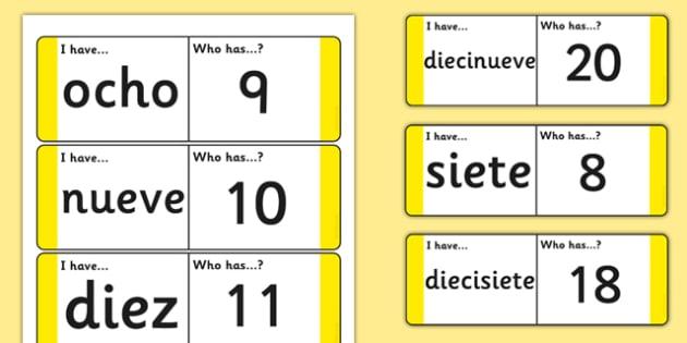 Tarjetas de buscar y emparejar Números de 21 a 31 - números