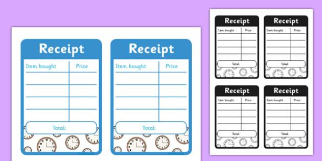 Clock Shop Role Play Receipts - clock shop, role play, clock, shop, roleplay, receipts