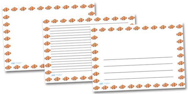 Clown Fish Landscape Page Borders- Landscape Page Borders - Page border, border, writing template, writing aid, writing frame, a4 border, template, templates, landscape