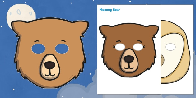 Story Role-Play Masks to Support Teaching on Whatever Next! - Whatever Next!, Jill Murphy,  resources, space, baby bear, Large family, rocket, moon, owl, story, story book, story book resources, story sequencing, story resources, role play