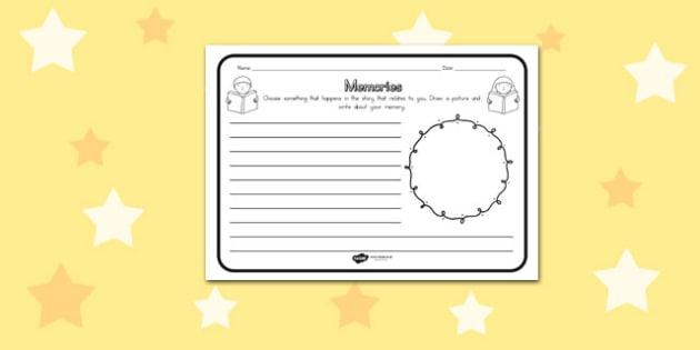 Memories Comprehension Worksheet - australia, comprehension