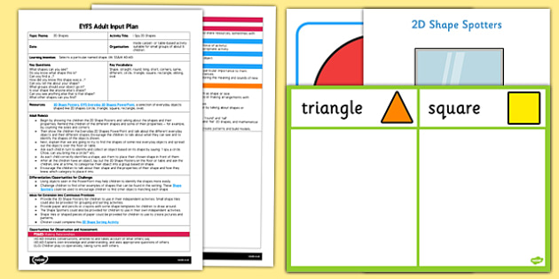 EYFS I Spy 2D Shapes Adult Input Plan and Resource Pack - EYFS, Early Years planning, adult led, Maths, shape, space and measure, everyday objects, shapes